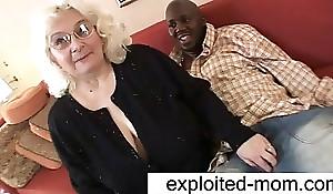 Granny loves black load of defecate