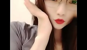 Cute Chinese Glasses Girl Live Fuck Cum Swallow Ten