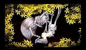 捕まると中出し交尾!白肌の娘が謎を解き、怪物の森から脱出できるか?
