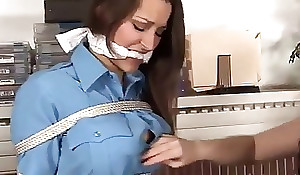 Chunky boobs policewoman coupled with cruel lesbos girl
