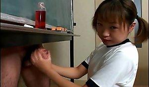 Japanese hottie itsuki wakana wanks a immutable cock uncensored