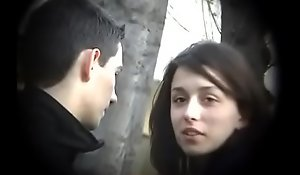 Bulgarian Sexy and Hot Brunette from Plovdiv Ride Boyfriends Blarney on Bench Giving a kiss Shellacking and Fondling - Lucky Future Husband Who Will Own Such Gust - Part 3