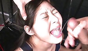 Cute Asian girl acquires required up added to misused wide of two randy masters