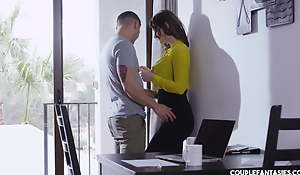 Julia de Lucia receives fantastic and horny for threesome