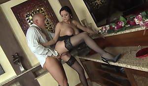 Unconscionable Stockings, Secretary ANASTASIA BRILL Has Hard Sexual intercourse