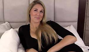 Unpaid blonde model fucked POV