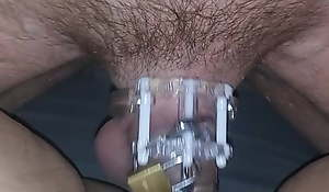 Hubby caged waiting his turn
