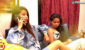 Desi real sisters have threesome sex anent a juvenile sponger