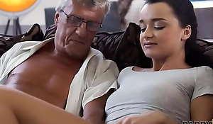Shaken up cutie allows BFs confessor to fuck her greedy snatch