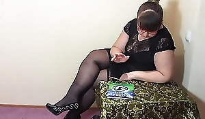 A stringent teacher including likes to masturbate, bbw in stockings makes herself fisting.