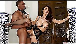 Classy MILF Lisa Ann takes a young Big black cock